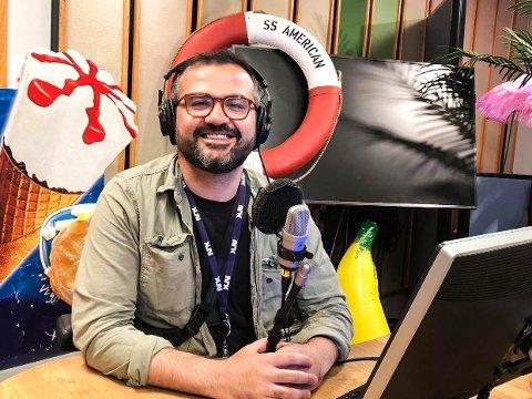 PROGRAMLEDER: Galvan Mehidi (31) fra Mysen har den siste uken vært programleder i Reiseradioen.