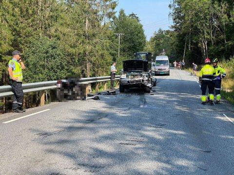 ALVORLIG SKADET:  Den 16 år gamle motorsyklisten pådro seg alvorlige skader i ulykken.