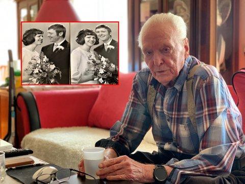 GULLBRYLLUP: Gudmund Lein syns det er ensomt uten kona Brit. – Det ble noen tårer da jeg fant frem bildene fra våre yngre dager.