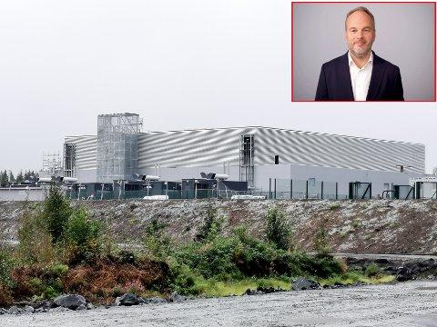 Digiplex nye anlegg på Holtskogen i Hobøl. Innfeldt er CEO i firmaet Wiljar Nesse