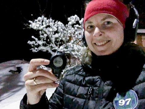 UT PÅ LØPETUR: Hver gang en spiller på laget hennes, HK Trøgstad 2009, er ute på løpetur må Irene Walseth gjennomføre det samme. Med 17 spillere på laget får hun kjørt seg.