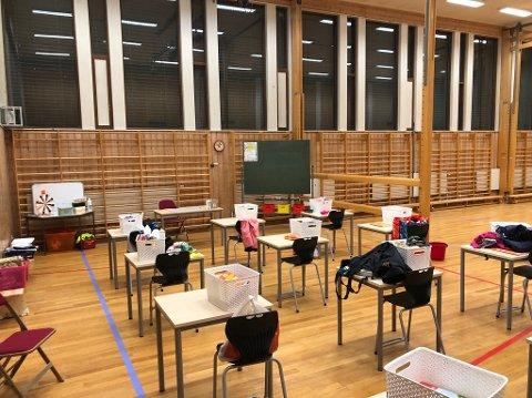 Hovin skole har tatt i bruk lokalene til Fjellheim for at elevene skal få komme på skolen.