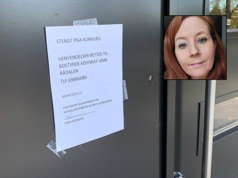 KONKURS: Linda Carine Kanestrøm (innfelt) jobbet inntil nylig på golfkafeen på Mørk i Spydeberg, som ble rammet av konkursen til Askim selskapsmat og sjokoladestøperi AS.