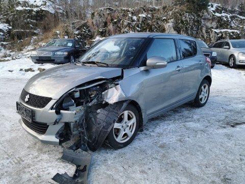 Janne Johansen fra Ørje var med i et trafikkuhell mandag ettermiddag.