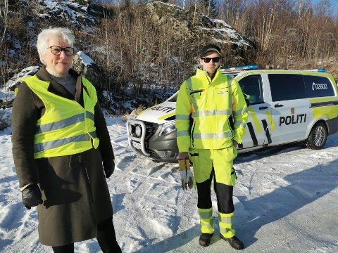 Janne Johansen og Daniel Reinholdtsen var i et trafikkuhell mandag.