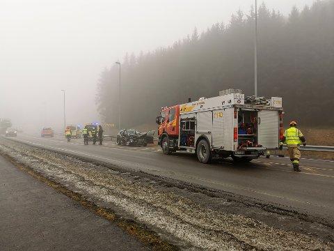 ULYKKE: En 84 år gammel kvinne omkom i ulykken, som skjedde like ved IØRs renovasjonsstasjon på Stegen i Askim.