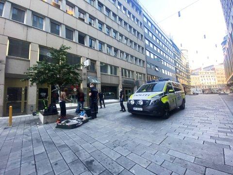 PÅGREP MANN: Politiet pågrep en mann mandag morgen.