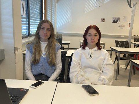 SKUFFET: Maja Emilie Ruud og Stine Sofie Høntorp Johannesson vil fortsette med egenmelding hvis man er syk.