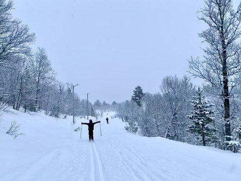 UT PÅ SKI: Skal du ut på ski, er laurdag den beste dagen på ei god stund, skal ein tru meteorologane. Det er ikkje spesielt mykje snø i vente dei neste par vekene.