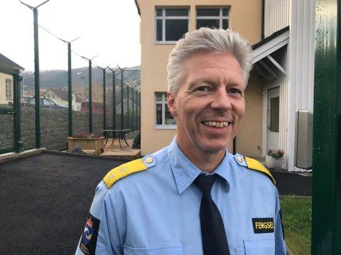 NY SJEF: Egil Rune Andersen overtek ansvaret for tilsette og innsette ved Vik fengsel.