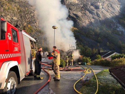 BRANN: Eigaren godtok ikkje forelegget etter brannen, då enda saka i tingretten.