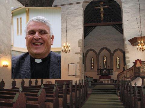 GJEV IKKJE OPP: Prost Geir Paulsen gjev ikkje opp håpet om at det skal komma ny sokneprest til Vangen kyrkje og dei andre kyrkjene i Aurland.