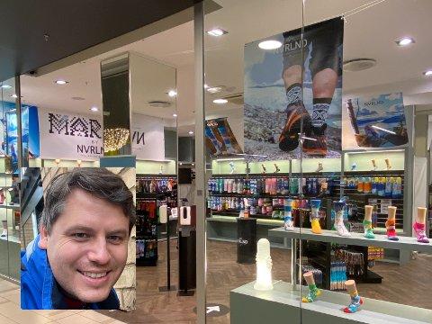 SOKKESUKSESS: Remi Lunde Solbakken (33) sitt sokkemerke Nvrlnd når stadig nye høgder. No opnar han butikk på Storo Storsenter i Oslo.