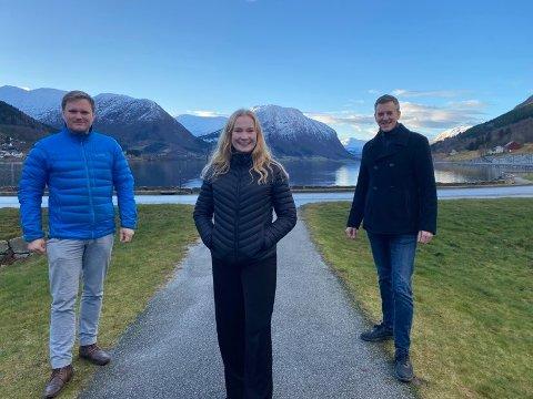 TOPP TRE: Aleksander Øren Heen, Emma Berge Ness og Erling Sande.