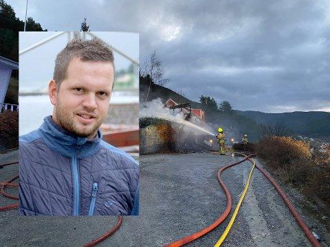 BER OM HJELP: Dagleg leiar i Sognehus, Terje Thorsnes, ber bygda om hjelp til å møblera ein ny bustad for dei brannråka kollegaene. Han er overvelda over responsen så langt.