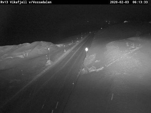 OPPHALDSVÊR: På Vikafjellet er det snø og isdekke, laber bris og opphaldsvêr.