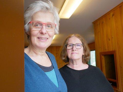GLADE: Bjørg Fritsvold og Elisabeth Skau er to av dei som sit i styret for Fresvik EnSpireskule AS. Dei er glade for at dei no har fått den godkjenninga dei treng frå utdanningsdirektoratet.