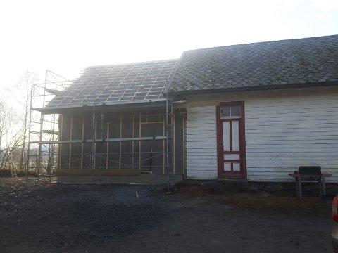 STAVØY: Stavøy grendahus i Kinn kommune.