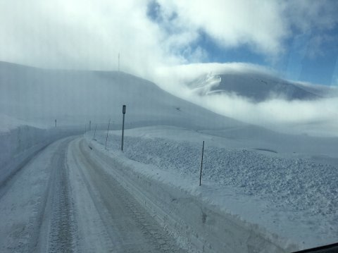 OPNAR: Vikafjellsvegen opnar måndag kl. 11, men kan fort bli stengd att, opplyser Olav Kåre Rendedal i Presis Vegdrift.