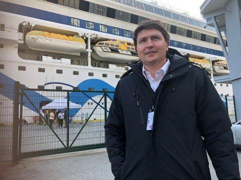 LANDSTRAUM: - Me vil vera klare for å ta hamna eit steg vidare fram mot framtidige krav og eit grønt skifte, seier hamnesjef Tor Mikkel Tokvam.