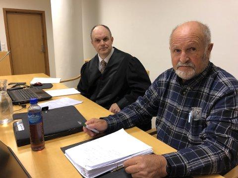 VANN FRAM: Alf Reutz Kollsete, her saman med advokat Ivar Eivind Hauge, vann fram med anken.
