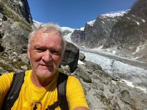 NY UTFORDRING: Bjørn Skovly har sett seg som mål å gå 100.000 steg på 24 timar.