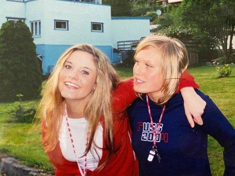 RUSSETID: Her er Linn Enoksen på besøk då Eva gjekk på Firda vidaregåande skule på Sandane.