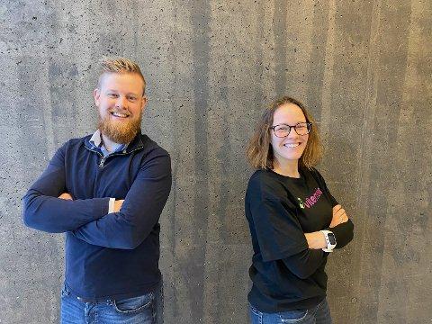 NI MÅNADER: Erlend Fardal Lunde og Åse Neraas har opningsdatoen for ViteMeir klar.