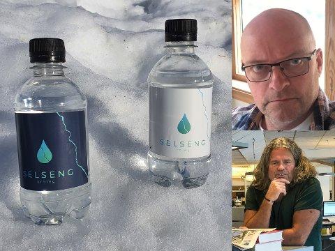 KRAFTVATN: Tor Yttri og Bratt Moro lanserer flaskevatnet Selseng, som visstnok skal vera godt for potensen. – Heller Selseng enn viagra, seier Jan Inge Fardal.