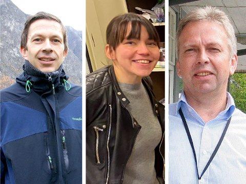 STERKE LOKALE KANDIDATAR: Per Åke Evjestad, Linn-Janette Underdal Skarsbø og Magne Forberg er tre av tilsaman ni aktuelle søkjarar  for stillinga som næringsrådgjevar i Lærdal.