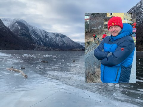 VIL HA FORBOD: Ordførar Hilmar Høl har kontakta politiet for å snakka om eit forbod mot å  opphalda seg på isen på Årdalsvatnet.