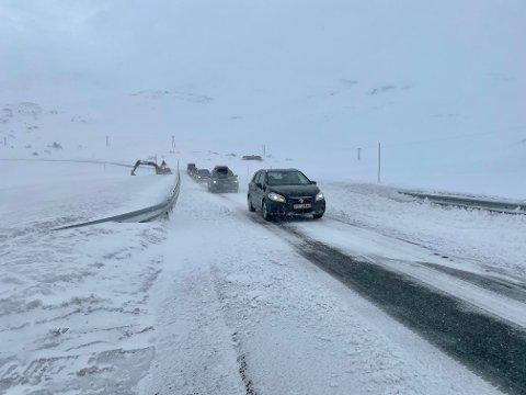 GIR IKKJE OPP: Fylkesutvalet ønskjer at ein tunnel under Vikafjellet, truleg den mest stengde fjellovergangen i landet, skal takast inn att i Nasjonal Transportplan.