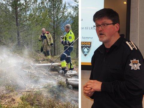 BEKYMRA: Brannsjef i Sogn Brann og redning IKS, Vidar Trettenes, er uroa over at folk ikkje respekterer bålforbodet.