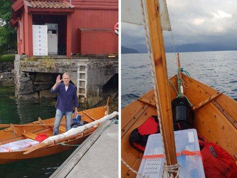 UT PÅ TUR: Hotellsjef Erling Eggum var ved godt mot då turen starta. Det er han framleis.