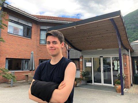FØRSTE DOSE: Eirik Myklebust (22) har fått sin første dose med koronavaksine.