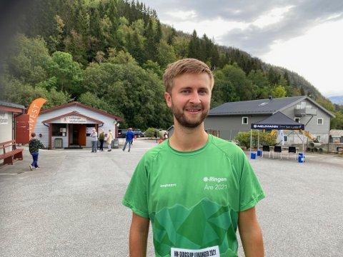 SPREK HELG: Jakob Kalvig Skogan (27) klinka til med både Hodlekve Rundt laurdag og deretter NM i skogsløp etterpå. Han stilte også i NM på dag 2.