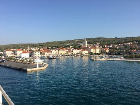 Supetar på øya Brac, utenfor Split i Kroatia.