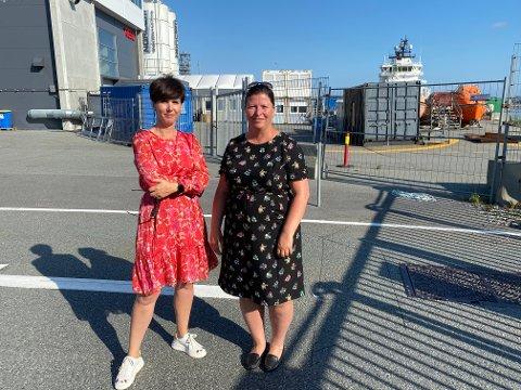 Janne Stangeland Rege (H) og Anja Berggård Endresen (V) er opprørt over stavangersk flertall i både styret og representantskapet i Stavangerregionen Havn.