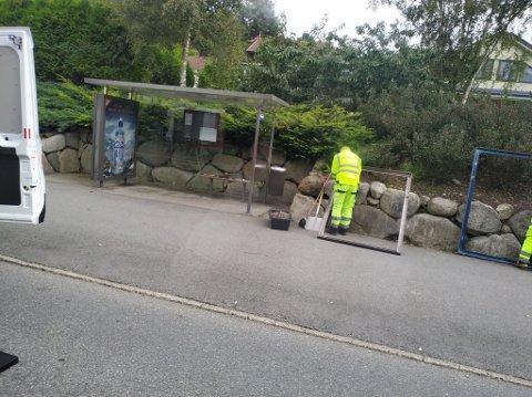 Tirsdag ble busstoppet fikset.