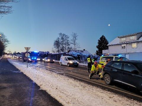 To biler var involvert i uhellet, som skapte store trafikale problemer onsdag morgen.