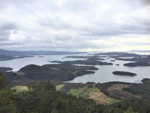 ØYRIKET: Det var 1.361 besøkande på Randåsen. På denne turen er det mellom anna flott utsikt til Kådavågen, Hovda, Børøy og Fisterøyane.