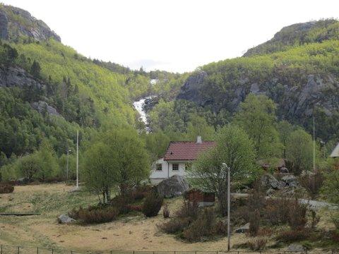 Dalen 2 kraftverk er planlagt bygd i Lågalia nær speiderhytta på Foreneset ovenfor Jørpeland. (Arkivfoto: John Sandvik)