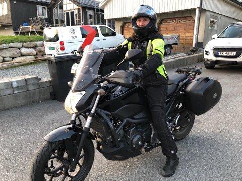 FERIE PÅ TO HJUL: Ordfører Irene Heng Lauvsnes tar kanskje deler av ferien på to hjul, dersom mannen hennes kjøper seg ny motorsykkel.