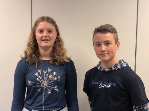 VET HVA DE VIL: Både Mari Norland og Markus Krumsvik Andersen vet hva de vil etter ungdomsskolen