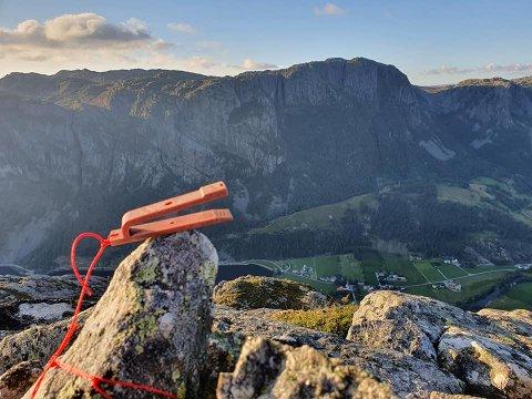 MIDDAGSFJELLET: Dette fjellet ligg 691 meter over havet og herifrå har du utsikt over Øvre Espedal.