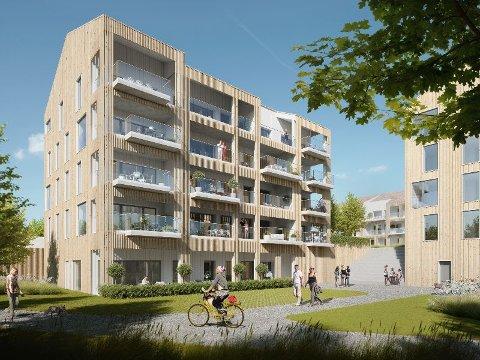 24 LEILIGHETER: I første omgang er det 24 leiligheter fordelt på to bygg som skal opp. Disse skal stå ferdige til sommeren 2022. (Illustrasjon: Aktiv Ryfylke)