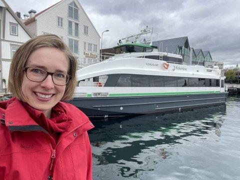17 MILLIONAR: Regjeringa la fram kommuneproporsjonen tysdag denne veka, og næringsminister Iselin Nybø trekkjer fram at den mellom anna inneheld 17 nye millionar til hurtigbåtar i Rogaland.