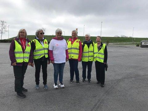 FLERE: De ønsker at flere blir med. Fra venstre Tonny S. Måland, Grethe Dalane, Signe Elisabeth Mæland, Sigrun Gundersen, Torunn E. Andersen og Anne Jansen.