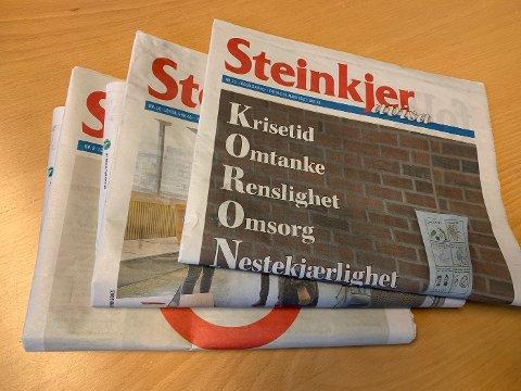 Steinkjer-Avisa økte opplaget i 2. halvår 2020.