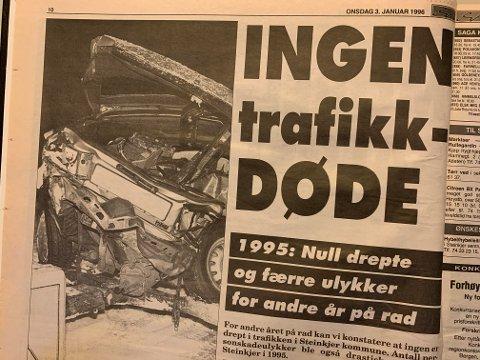 Utklipp fra Steinkjer-Avisa i januar 1996.